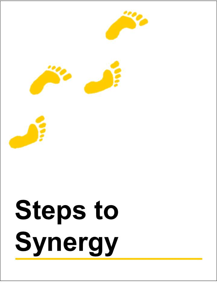 Steps to synergy